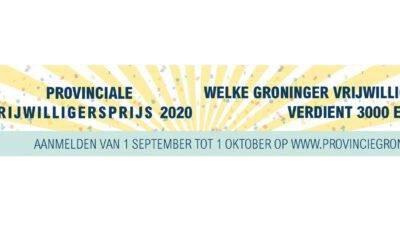 Win € 3000! – Provinciale Vrijwilligersprijs 2020 provincie Groningen